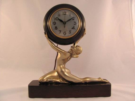 Clock Art Deco Nude By Sessions