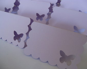 70 Butterfly Place Cards. CHOOSE YOUR COLORS.  Lavender. Weddings, Escort, Table Cards.