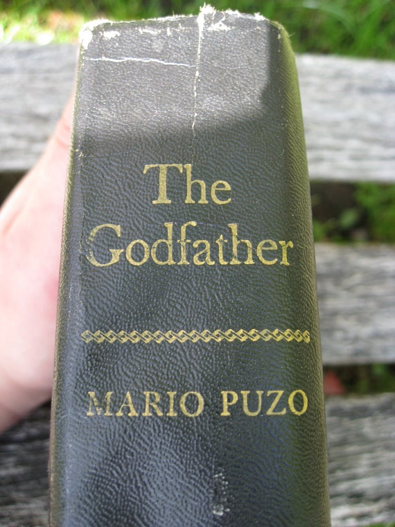 "Vintage 'The Godfather"" Book, 1969 Edition. Mario Puzo. Antique Original Godfather Book. Putnam Publishers."