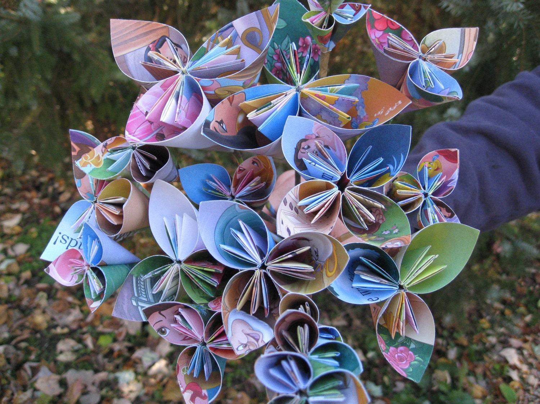 Disney Princess Paper Flower Bouquet Origami by TreeTownPaper