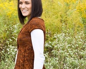 PDF Knitting Pattern File Cabled Sweater