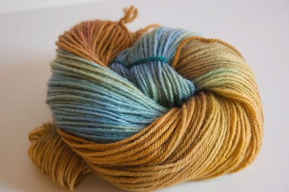 "Poetry In Motion, Hand Dyed Yarn- ""News That Nature Told""- 220 yards  Worsted Weight Wool Yarn"