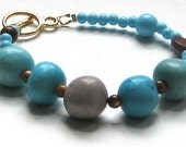Egg or Jelly Bean Bracelet - Purple and Blue - Easter Jewelry - Spring Hostess Gift
