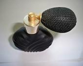 Vintage Perfume Bottle - Gold and Black