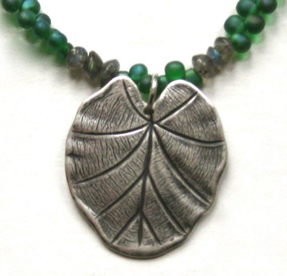 """RESERVED - SALE....Lily Pad necklace with FREE surprise earrings....""""needs a home free shipping offer"""""""