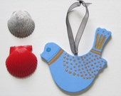 Blue Bird Hanging Ornament