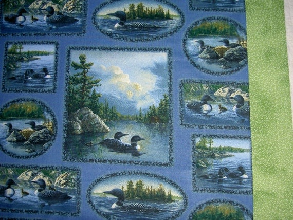 Loons Small Throw Canadian Blanket ***FREE SHIPPING*** Made in USA