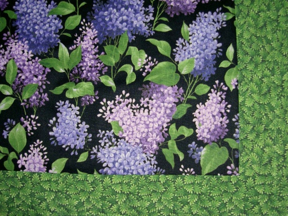 Lilac Time baby crib Canadian Blanket