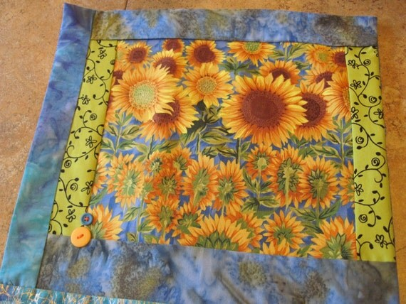 "14"" x 14"" PILLOW COVER - Farmer's Market Sunshine Sunflower Garden"