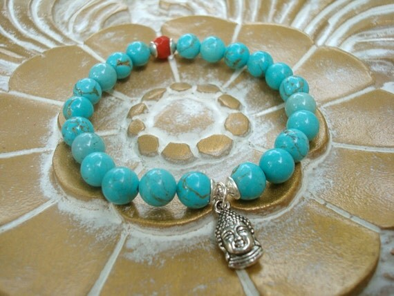 turquoise buddha mala