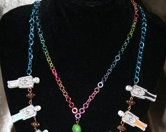 Skeletons on Parade Necklace