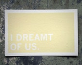Screenprinted Postcard: I Dreamt Of Us (Through Rose-Colored Glasses)