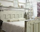 Queen-Sized Reclaimed Wooden Door Bed Frame