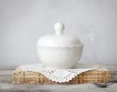 Lovely White Vintage Sugar Bowl