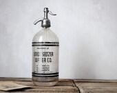 Vintage Seltzer Bottle : Property Of Union Seltzer Water Bottle Co.