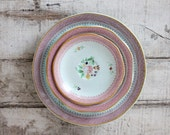 Set of 6 Vintage Plates, Calyx Ware Lowestoft