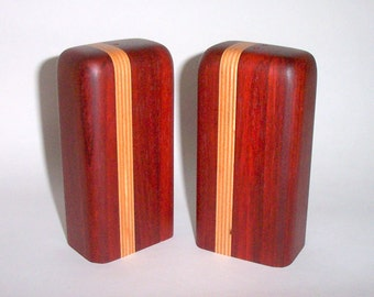 Salt and Pepper Shakers (African Padauk with Baltic Birch Plywood)