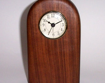 Contemporary Desk Clock (American Black Walnut)
