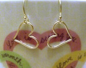 RESERVED for Barbara - Be My Valentine - Heart Earrings - Sterling Silver - Wedding Jewelry - Bridal Earrings