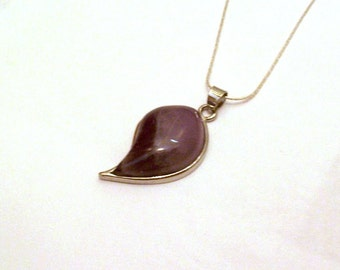 Amethyst Necklace - Purple Jewelry - Pendant Necklace - 18KWGP