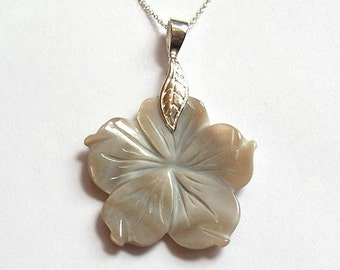 SALE Mother of Pearl Necklace Sterling Silver Jewelry