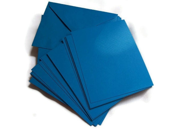 RESERVED for Jennifer, Blue Stationery, Blank Note Cards with matching envelopes