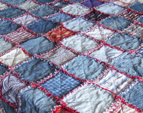 Denim Rag Quilt Tutorial Pdf Pattern Picnic By Originalcloth