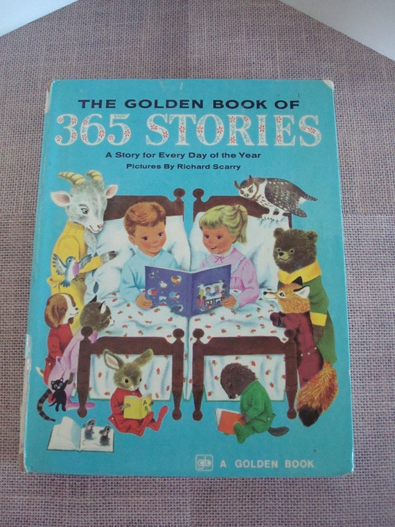 Children's Story Book-The Golden Book Of 365 Stories-By Kathryn Jackson-Pictures By Richard Scarry-Printed in 1976.