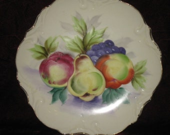 Vintage Decorative Painted Plate by Norcrest