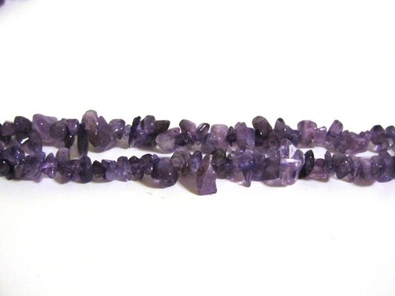 50% OFF SALE Purple Amethyst Dyed Bead Chip Strand