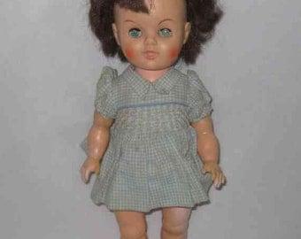 "SWEET Vintage 14"" Vinyl Plastic GIRL Doll"