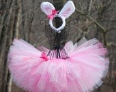 Tutus: Little Bunny Tutu/ bunny costume/ Easter tutu/ halloween costume- custom made sizes newborn, 3-6, 6-12, 12-18, 2T/3T