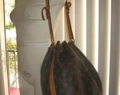 Authentic Vintage Louis Vuitton Shoulder Bag Backpack sz large