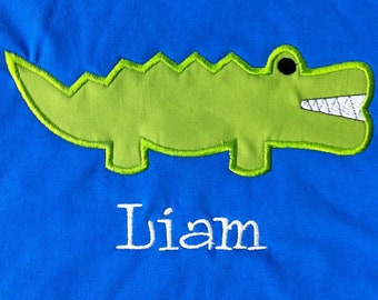Cute Gator Shirt - Infant or Toddler - Florida Gators - Girl or Boy Gator Shirt - Alligator - Personalized - Monogrammed
