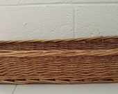 Rustic vintage french bread basket