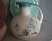 Brock Of California Pottery FOREVER YOURS Milk Pitcher