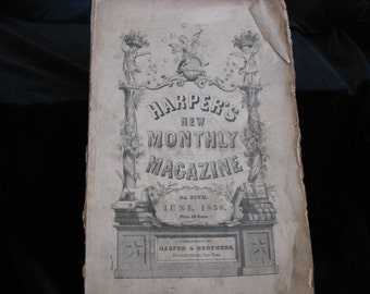 Harper's New Monthly Magazine 1858 June