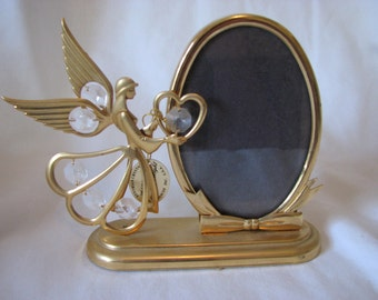 Angel and Crystal Oval Frame