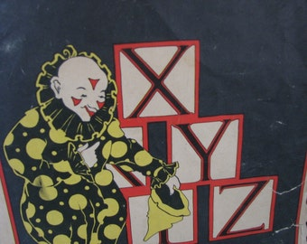 Art Deco Baby Book  For Framing Pierrot Clown Baby Toys
