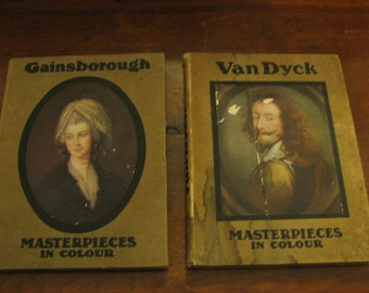 Masterpieces in Colour Van Dyck and Gainsborough Art Books 1910