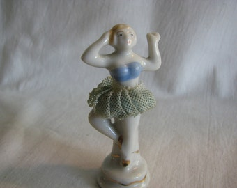 Thumbelina Ballerina Porcelain With Tulle Tutu Made In Japan