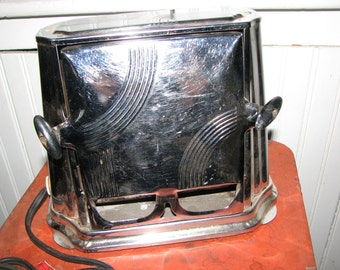 Art Deco Toaster , Chrome Drop Side Toaster , Working Appliance