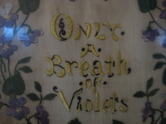 Reserved for kb2130  Civil War Era Embroidery In Memory of Abraham Lincoln