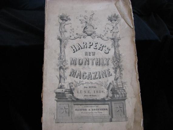 Harper's New Monthly Magazine 1858 June