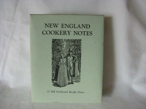 New England Cookery Notes Recipes Notecards