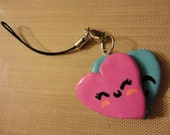 Adorable 2 Hearts Charm (Polymer Clay)