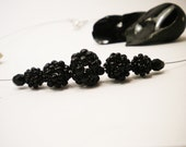 To bead or not to bead series. Black queen necklace. Black beaded beads rock necklace. Ready to ship FREE compined shipping