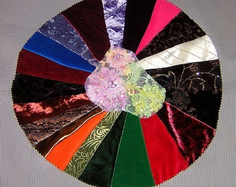 20 PCS Velvets, Velveteens , Burnt out velvets for Crazy Quilts, Art Quilts & Art projects