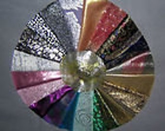 20 PCS Sparkling  Metallic Quilt Fabrics for Crazy Quilts, Art Quilts & Art projects