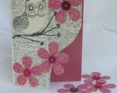 Owl Card - 100%  Recycled Card